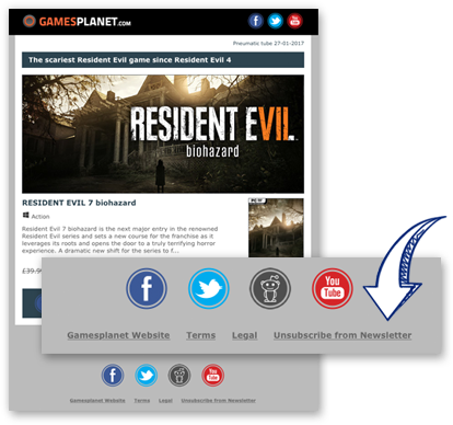 Gamesplanet newsletter