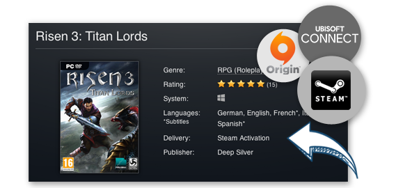 STEAM, Uplay, Origin and Co.