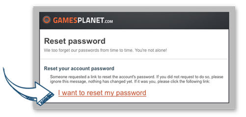 e-mail renew password